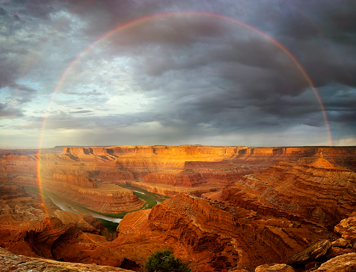 Canyonlands National Park (the rainbow is real)